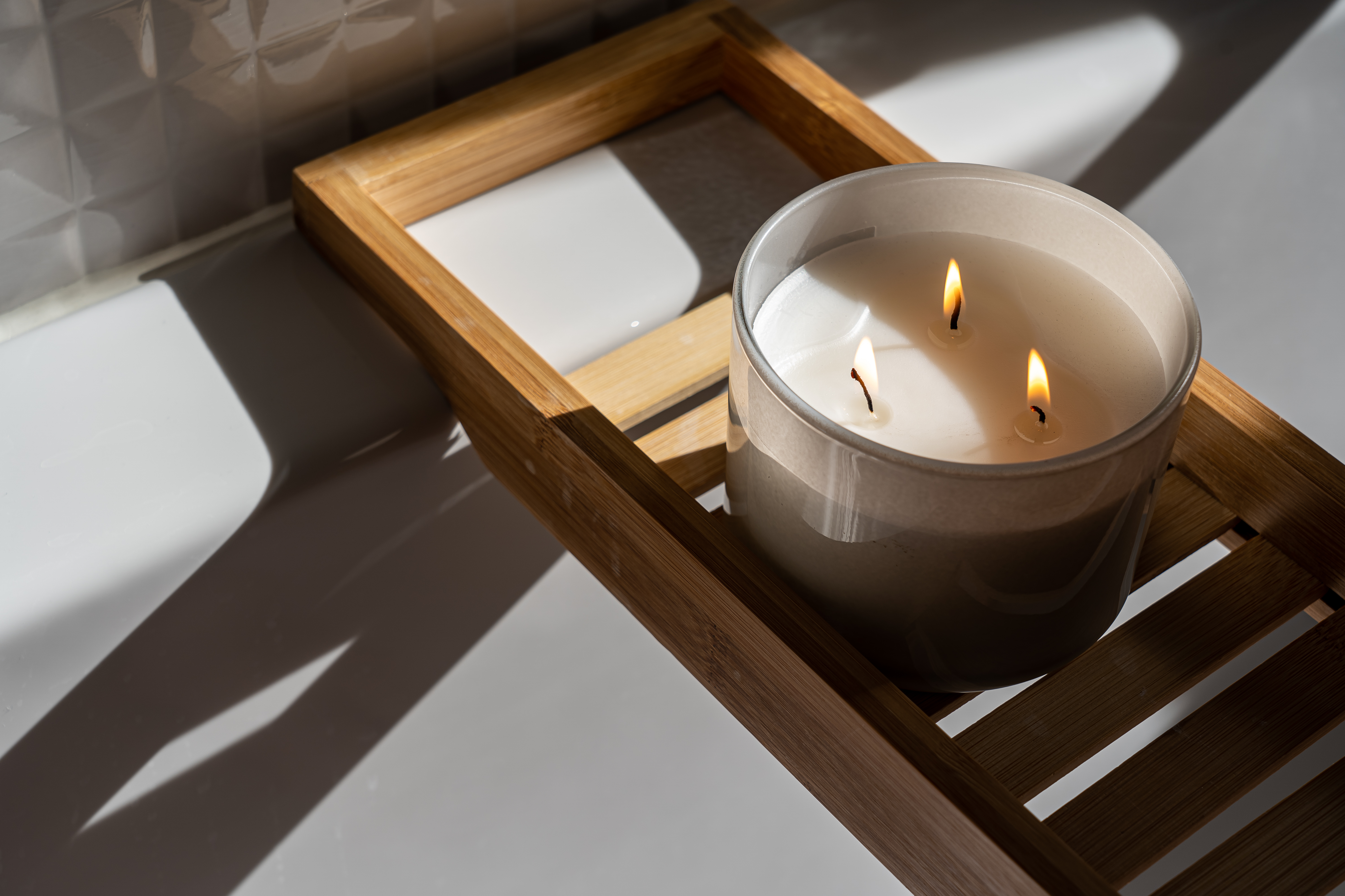 Canva - Photo Of Candle On Wooden Tray