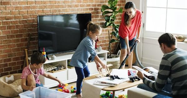Children tidying up