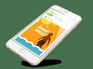 EasyPeasy App content on iPhone